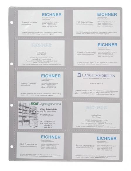 Visitenkartenhüllen Für Visitenkartenalbum Din A 5 Für Je 8 Visitenkarten Achtung 4 Vorne 4 Hinten