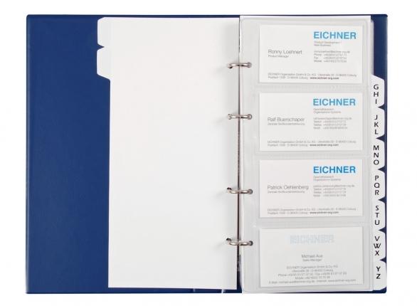 Visitenkartenalbum Din A 5 Mit Register Inkl 25 Hüllen Für 200 Karten