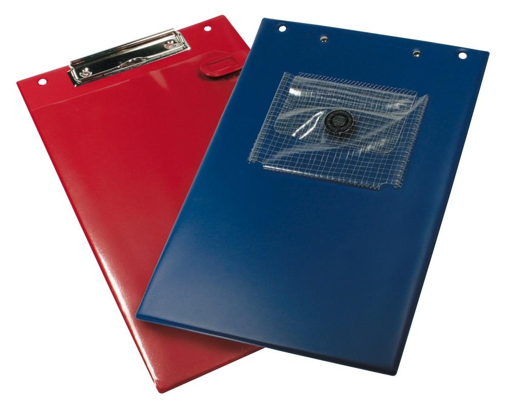 Auftragstasche Klemmfix In A4 Inkl Blockklemme Und Stifttasche In Blau
